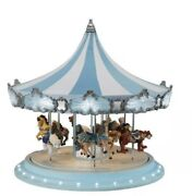 Mr Christmas Frosted Carousel With Music Motion And Lights