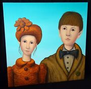 06 New Zealand Express. Oil Painting Brother And Sister By Mark Olsen B1962cor