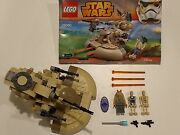 Lego Star Wars Tank+jar Jar And 2battle Droids And Instructions