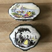 Lovely Pair Of French Faience Boxes With Marks By Sceaux And Veuve Perrin
