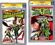 Green Lantern 82-83 Cgc-ss 6.5-3.0 Signed 2x By Neal Adams And Denny Oandrsquoneil 1970