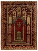 4.3x6 Ft Vintage Hand-knotted Central Anatolian Prayer Rug