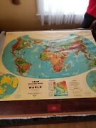 World Map Cram Astro-vue Series Detailed Pull Down School Map