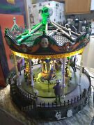 Lemax Signature Collection Halloween Carousel - Spooky Town Read