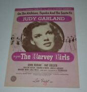 1945 The Harvey Girls On The Atchison Vintage Sheet Music Judy Garland