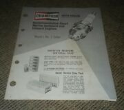 Champion Spark Plugs 1976 Marine Outboard Inboard Engine Chart Booklet Book