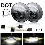 Waterproof Car Universal Headlight 7 Inches Durable Lens Floodlight At Night 24v