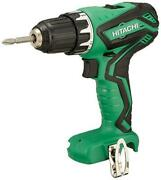 Hitachi 10.8v Brushless Cordless 2 Speed Driver Drill Ds10dal Body Only
