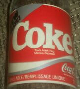 New Coke Sample Coca Cola Bottle 1980's Canada 170 Ml English/french With Cap