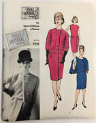 60s 2-pc Dress And Jacket Vogue Couturier 1221 Galitzine Sewing Pattern W Label