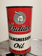 Vintage Original Can Of Indian Motorcycle Transmission Oil Full Springfield Mass