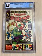 Amazing Spider-man King Size Special 3 Cgc 8.5 Vf+ White Pages - 1966 Annual 3