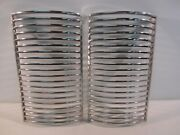 1942 42 Ford Grill Inserts Rat Hot Rod Custom Car Grille Trim Molding Lt And Rt