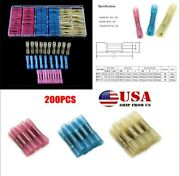 200x Car Heat Shrink Butt Connector Waterproof Electrical Wire Insulated Crimp