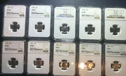 1955-1964 Set Of Roosevelt Proof Dimes - Ngc Certified
