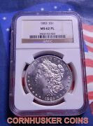 1883-p Morgan Dollar Ngc Ms 62 Pl - Bright White Gem Only One Listed On Ebay 👀
