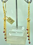 22k Earrings Solid Gold Ladies Classic Dangle And Drop With French Hooks E6631
