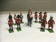 Vintage Lead Figures Made In Britain Lot Of 11