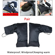 Motorcycle Scooter Handlebar Gloves Hand Muffs Cycling Winter Thermal Warm Mitts