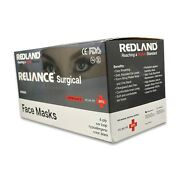 Redland Reliance Surgical 4ply Black Ear Loop Face Mask Astm Level-3 50 Pc/box
