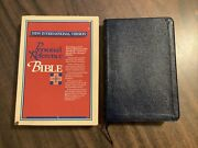 Niv 1978 Pre 1984 Personal Reference Bible - Blue Bonded Leather - Oop
