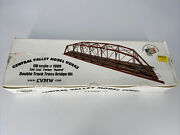 Ho Scale 187 Central Valley Model Works Double Track Truss Bridge Kit 1900 New