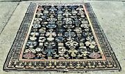 Antique Tribal Kuba Caucasian Oriental Rug All Over Design Blue Size 5and039 X 6and039 8