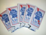 Lot Of 5 Pbr Pabst Blue Ribbon Beer Koozie 24 Oz Tall Can Cooler Coozie - New