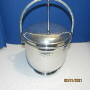 Vintage Aluminum Gailstyn Product Automatic Top Ice Bucket Made In The Usa
