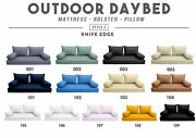 Style2 Outdoor Daybed Bolster Pillow Cushion Mattress Fitted Sheet Complete Set