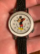 Nice Vintage 1970andrsquos Mickey Mouse Bobbing Head Wrist Watch