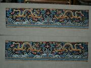Antique Imperial Dragon Sleeve Bands Tongzhi Period Ca. 1860