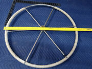 28andrdquo Boat Marine Stainless Steel Steering Wheel 1andrdquo Shaft Wrapped 6 Spoke