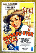 Roy Rogers George Gabby Hayes Dale Evans 1946 Poster -- Rainbow Over Texas