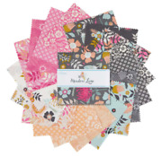 Meadow Lane 5 Inch Squares X 42 Pieces Cotton Quilt Fabric Charm Stacker Pack