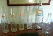 Woods Find 50's To 1980 Pepsi Cola Bottles Lot 6 Embossed And Acl 10 And 32 Oz Quart