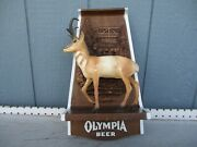 Vintage Collectible Olympia Beer Antelope 3d Animal Advertising Sign