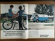 1972 Ni-gas Northern Illinois Gas Co Ad Experimental Trucks Read Your Gas Meter
