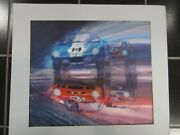 Ferrari Gto Vs. Ford Daytona Coupe Original Painting By George Bartell And03995