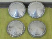 69 70 71 Plymouth Dog Dish Hub Caps 9 Set Of 4 Stainless Hubcaps 1969 1970 1971