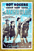 Roy Rogers Gabby Hayes Yakima Canutt / 1940 Poster -- Ranger And The Lady