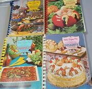 Lot Of 4 Vintage Beta Sigma Phi Cookbooks Rare Collection Used 1960's 1970