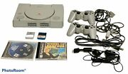 Sony Playstation Ps One Bundle Console, 2 Controllers, 2 Games, 2 Memory Cards