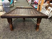 Antique Ox Cart Custom Made Coffee Side Table