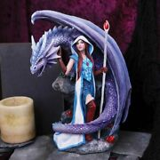 Dragon Mage By Anne Stokes Dragon And Lady Figurine Ornament Magical Fantasy