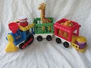Fisher Price Little People 1991 Chunky Circus Train Set With People And Animals
