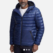 Kenneth Cole Hooded Midweight Quilted Zip Jacket Men's Size Large Nwt 195