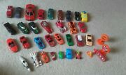 Job Lot Of Mixed Toy Vehicles Cars Models/ 30 Vehicles And 4 Traffic Signs.