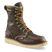 New Thorogood Men's 1957 Waterproof 8 In Moc Toe Work Boots, Sizes 8-14 Brown