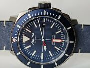 Alpina Seastrong Diver Navy Blue Automatic Watch Antimagnetic 44mm Al-525lnn4tv6
